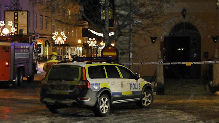 Branden misstänks vara anlagd. Foto: Daniel Sjöholm/Sveriges Radio