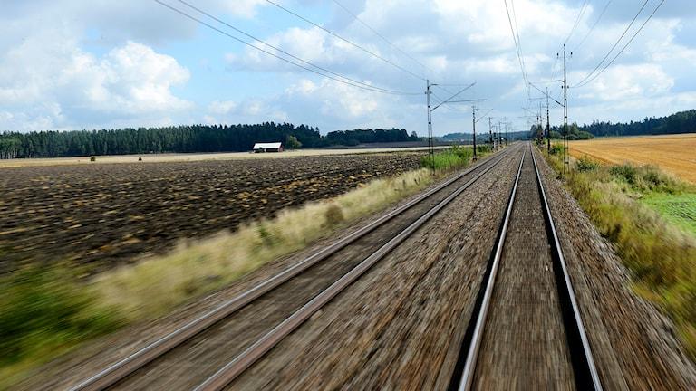 Ett järnvägsspår. Foto: Henrik Montgomery/TT.