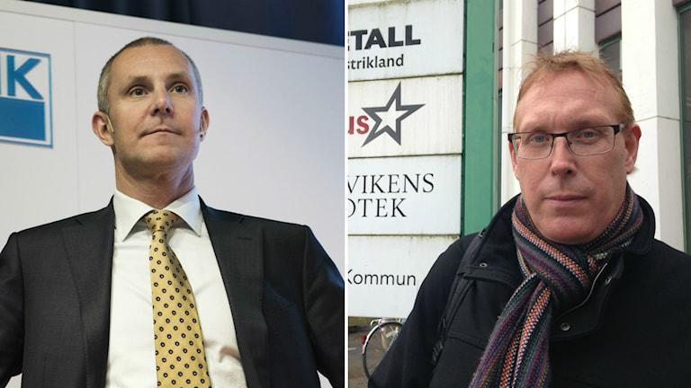 Olof Faxander, vd Sandvik och Tomas Kärnström IF Metall.