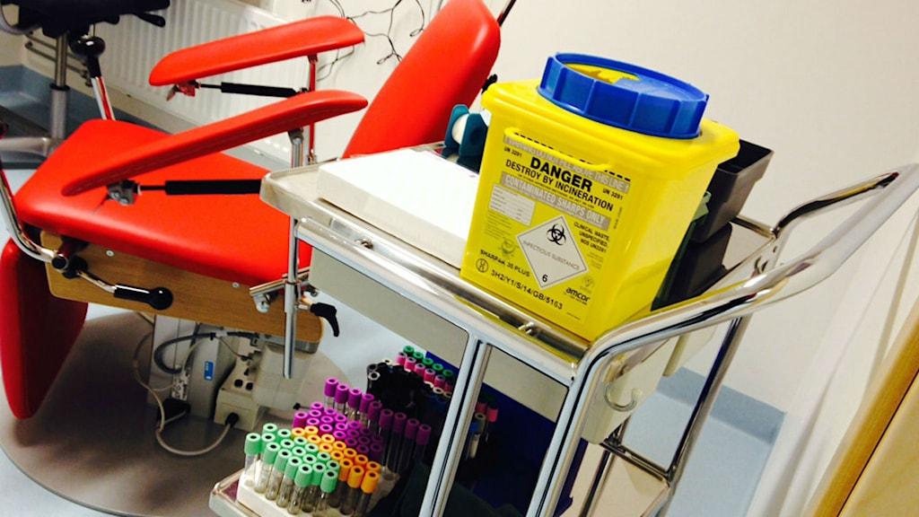 Cellprovskontroller förhindrar livmoderhalscancer. Foto: Jennie-Lie Kjörnsberg / Sveriges Radio