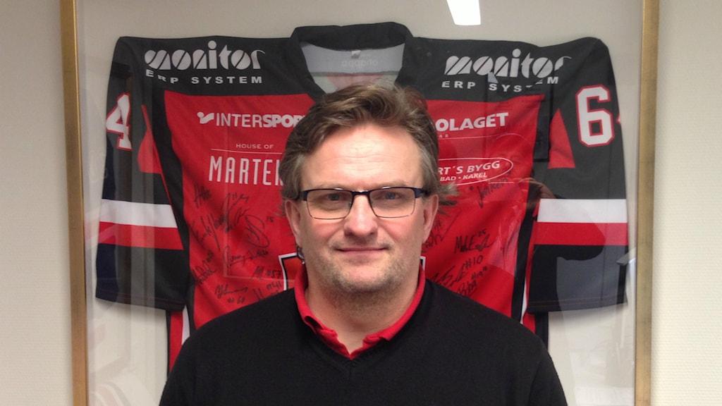 Fredrik Johansson, tränare i Hudik Hockey. Foto: Hasse Persson/Sveriges Radio