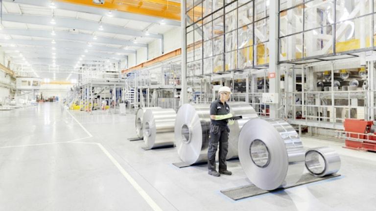 Fabrik med metallrullar för bränslecellsbilar