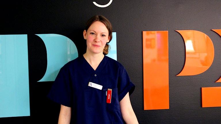 Hannah Johansson är ST-läkare vid Sandvikens hälsocentral. Foto: Martin Svensson / Sveriges Radio