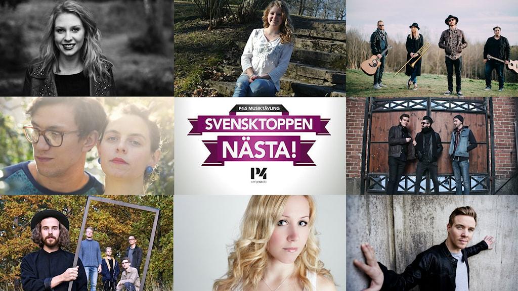 Finalisterna i Svensktoppen Nästa 2015