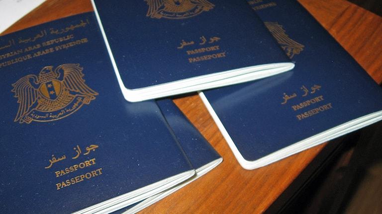 Familjen har fått nya syriska pass, men utvisas till Armenien. Foto: Linnea Johansson/P4 Gävleborg.