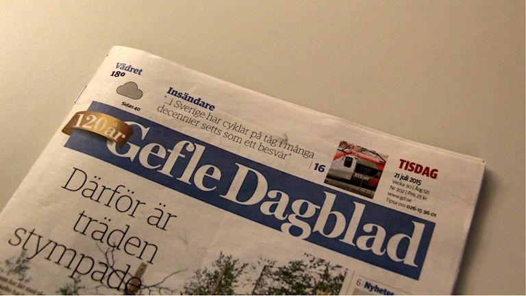 Gefle Dagblad. Foto: Fredrik Björkman/Sveriges Radio