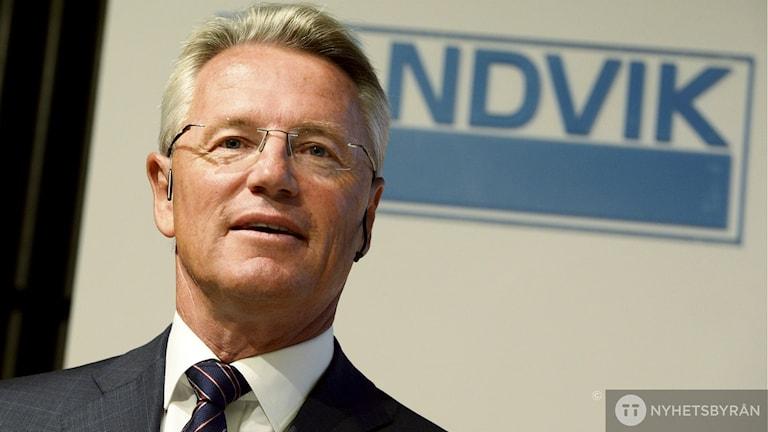 Björn Rosengren, ny vd för Sandvik, presenterades under en pressträff i Stockholm. Foto: Jonas Ekströmer / TT