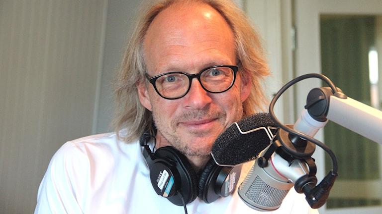 Larry Forsberg, programledare i P4 Gävleborg. Foto: Emma Åhlström/P4 Gävleborg.