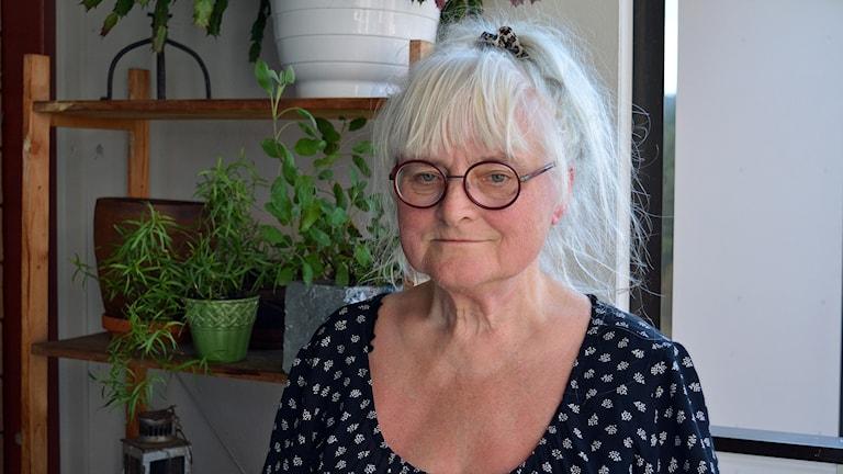 Ingrid Thyr är ordförande i Asylkommittén i Gävleborg. Foto: Tomas Groop/ Sveriges Radio