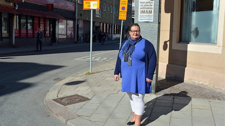 GD:s chefredaktör Anna Gullberg utgår från att bombhotet är kopplat till tidningens granskning av Gävlemoskén. Foto: Tomas Groop/ Sveriges Radio