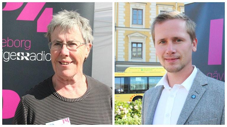 Ann Berg (FP) och Roger Hedlund (SD). Foto: P4 Gävleborg