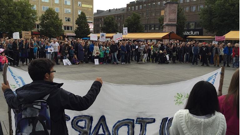 Manifestation i Gävle. Foto: Christian Ploog/Sveriges Radio