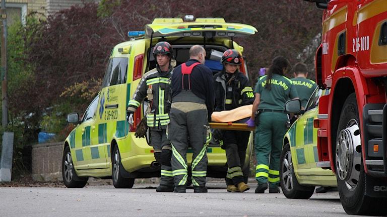 Crossolycka i Valbo. Foto: Roger Nilsson/Sveriges Radio