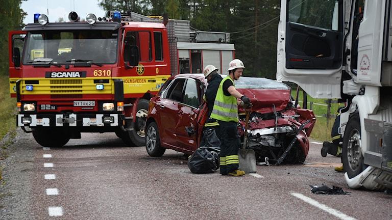 Frontalkrock norr om Holmsveden. Foto: Daniel Sjöholm/Sveriges Radio