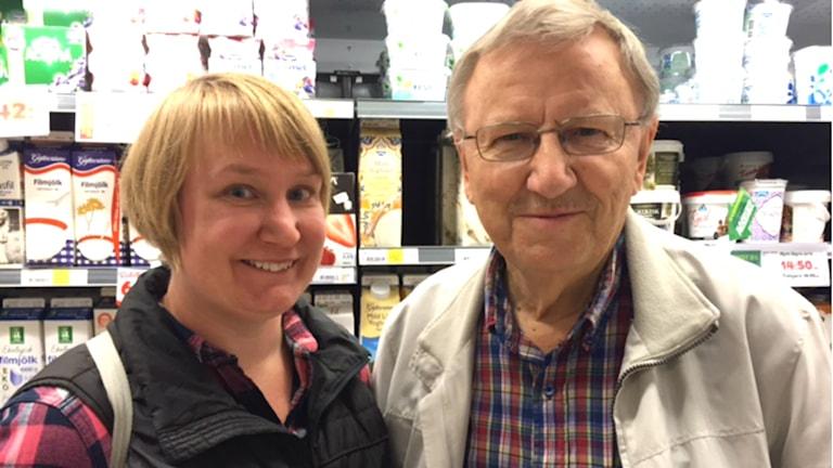 Elin Lundgren (S) och Roland Ericsson (C). Foto: Emma Tranevik/P4 Gävleborg.