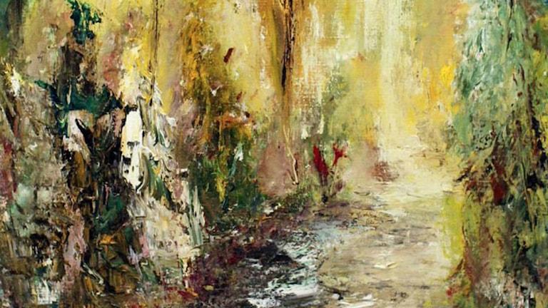 En av Anders Malms målningar. Foto: pressbild
