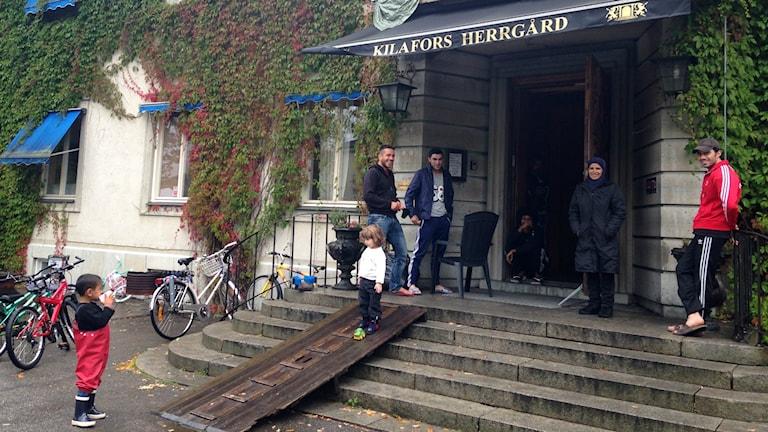 På asylboendet i Kilafors herrgård finns plats för 116 flyktingar.
