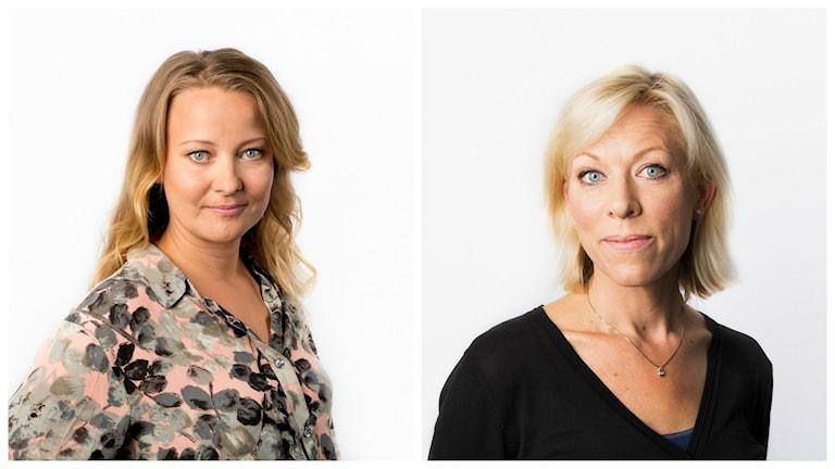 Anna Landelius och Ginna Lindberg. Foto: Mattias Ahlm/Sveriges Radio