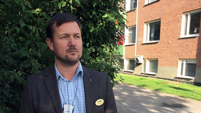 Fredrik Ebervik, rektor på Staffangymnasiet. Foto: Christian Ploog / Sveriges Radio