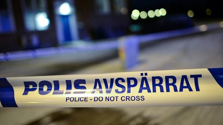 Polisavspärrning. Bilden är tagen vid ett annat tillfälle. Foto: Johan Persson/TT.