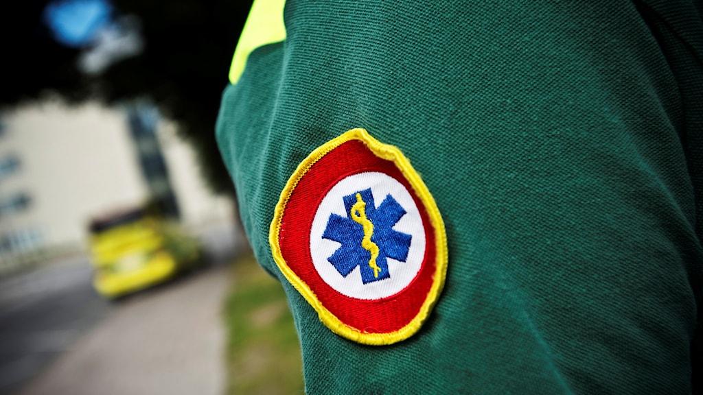 En ambulanssjukvårdare. Foto: Yvonne Åsell/TT.