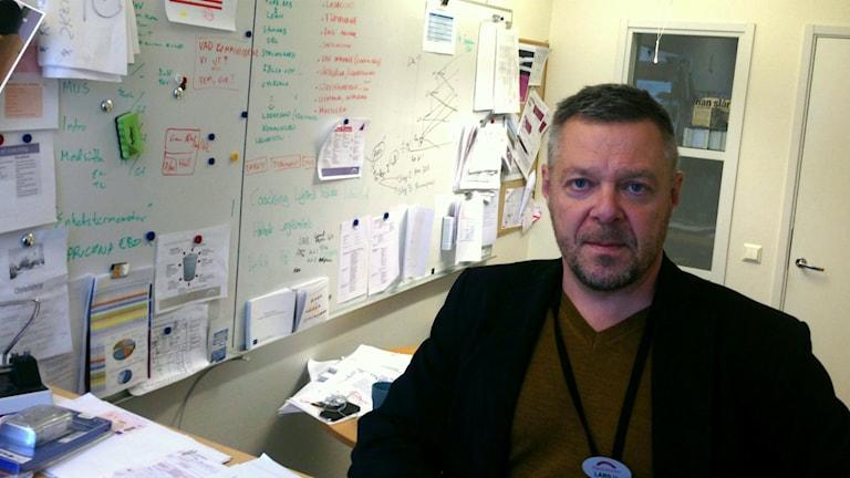 Lars Ulander, chef vid Migrationsverket i Söderhamn.