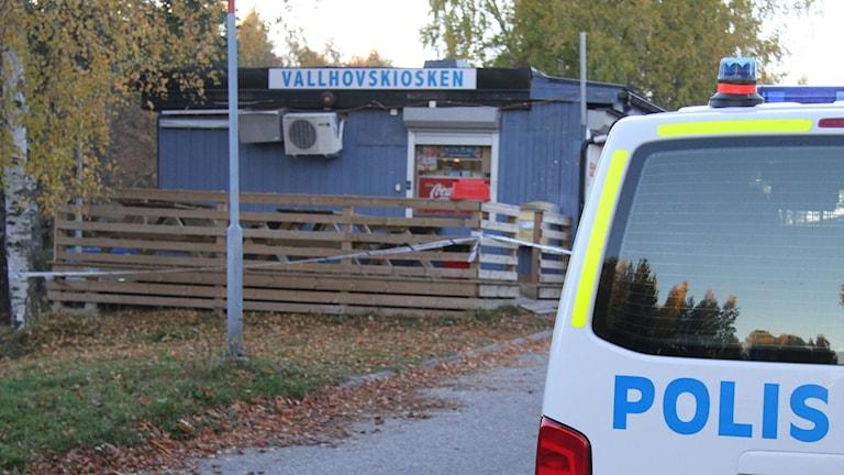 Rån mot Vallhovskiosken i Sandviken. Foto: Roger Nilsson/Sveriges Radio