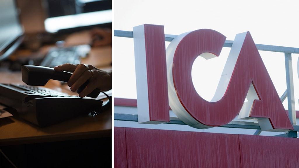 Ica varnar för bluffsamtal i deras namn. Foto: Fredrik Sandberg / TT