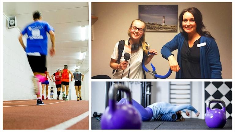 Steg 1 på Martina Söderlins träning: konditionscykel