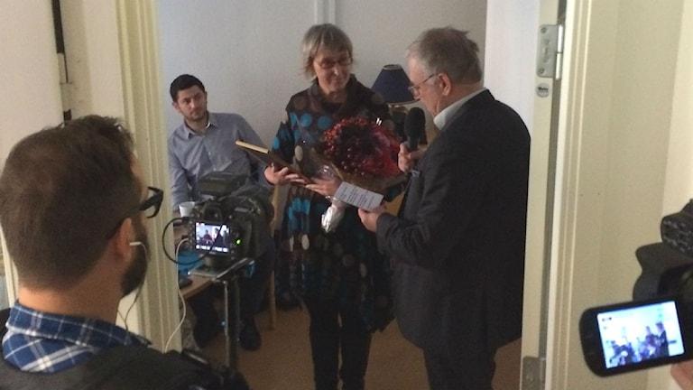 Anna Edberg överraskades med priset som årets eldsjäl i Norrland. Foto: Christian Ploog/Sveriges Radio