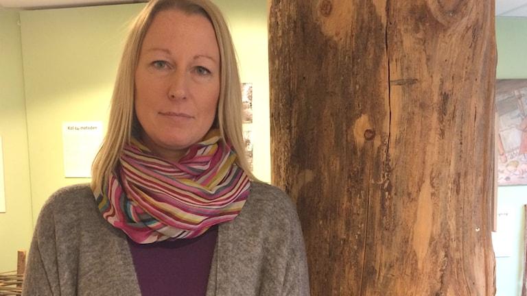 Ann-Sofie Gustafsson, enhetschef Hälsinglands utbildningsförbund. Foto: Agneta Sundberg/Sveriges Radio