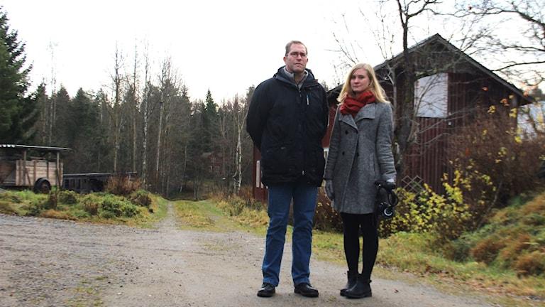 Håkan Svensson och Linnea Johansson har granskat branden i Hamre. Foto: Emma Åhlström/Sveriges Radio