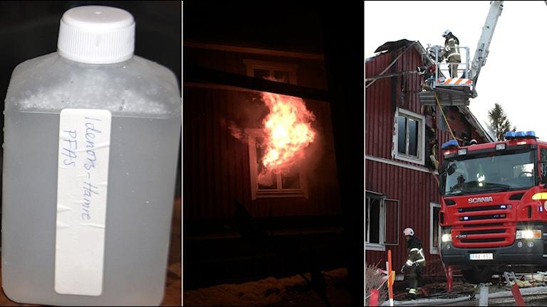 Efter branden i Hamre i januari har mycket hänt som påverkat den lilla byn. Foto: Linnea Johansson/SR, Privat.