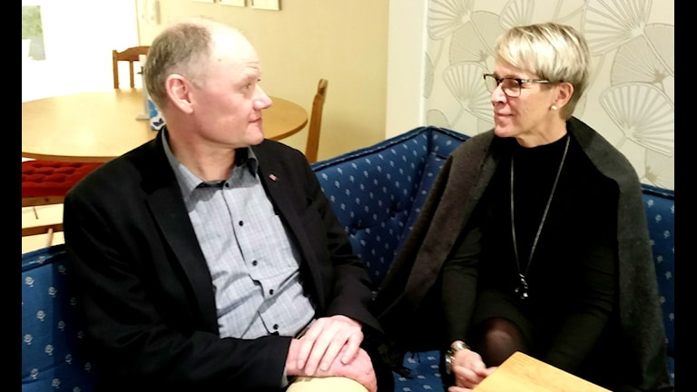 Bengt Friberg och Siv Persson. Foto: Christian Höijer/Sveriges Radio