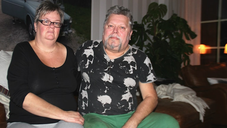 Kerstin Englund och Kent Bodin bodde i huset som brann. Foto: Linnea Johansson/Sveriges Radio.