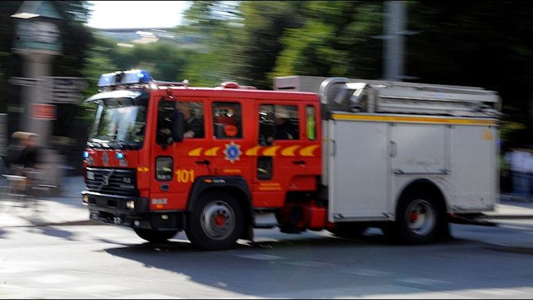 Många deltidsbrandmän har inte hunnit få hela sin utbildning. Foto: Bertil Ericson/TT.