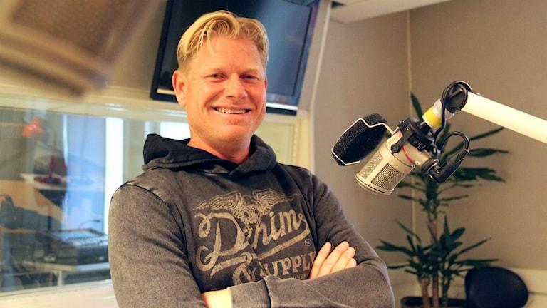 Peter Hedblom gästar Förmiddagen. Foto: Emma Åhlström/Sveriges Radio