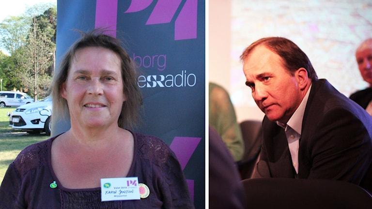 Karin Jansson (MP) och statsminister Stefan Löfven.