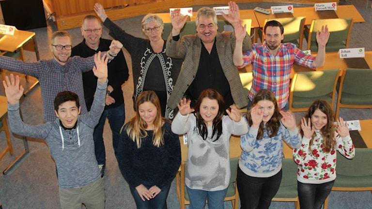Juryn som efter sluten omröstning bestämde namnet Alirskolan. Foto: Agneta Sundberg/Sveriges Radio