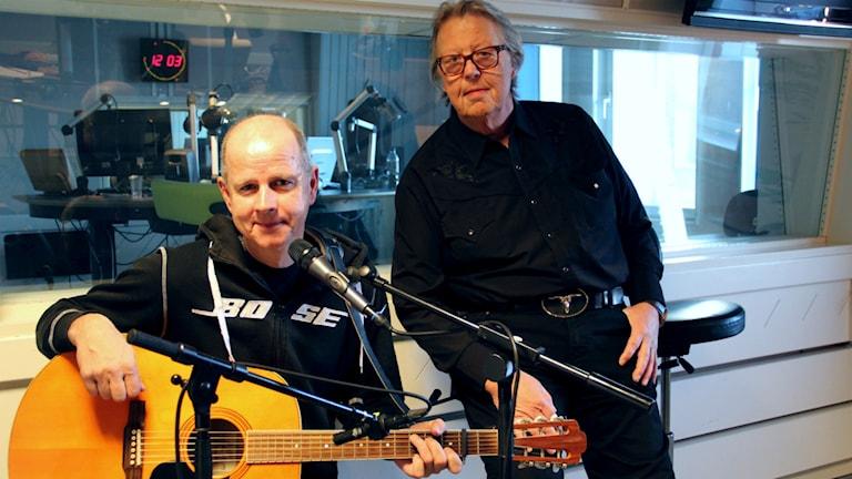 Per Persson och Roger Westblom. Foto: Emma Åhlström/Sveriges Radio