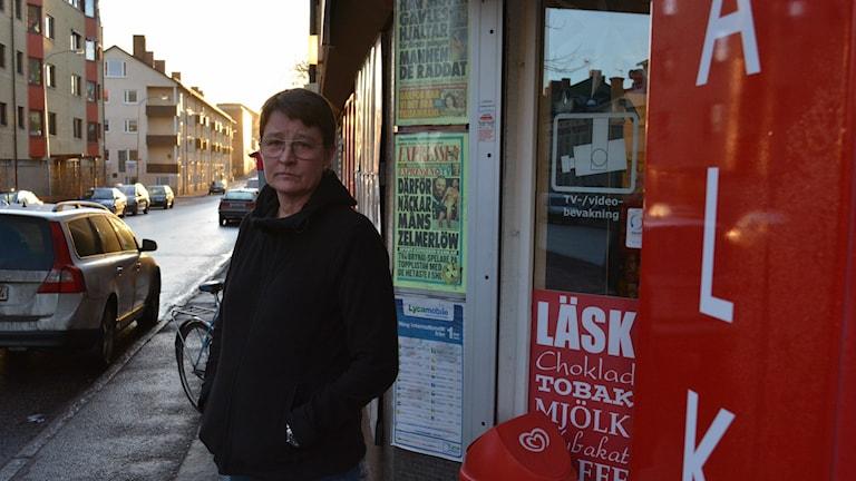 Maria Jonsson Fernlund, ägare till Söders närköp i Gävle. Foto: Christian Ploog / Sveriges Radio