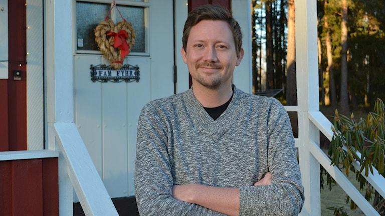 Tomas Fyhr från Valbo bevittnade årets bockbrand i Gävle. Foto: Tomas Groop/ Sveriges Radio