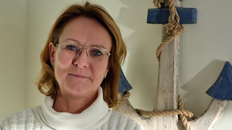 Kerstin Silfverberg vädjar om blod. Foto: Tomas Groop/ Sveriges Radio