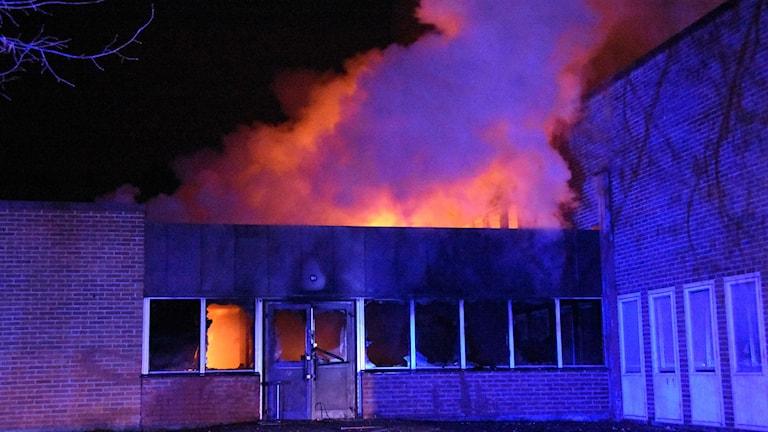 Föreningarnas hus i Marmaverken fick omfattande skador i branden.