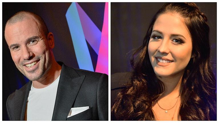Martin Stenmarck och Molly Sandén tävlar i Melodifestivalens delfinal i Gävle. Foto: TT
