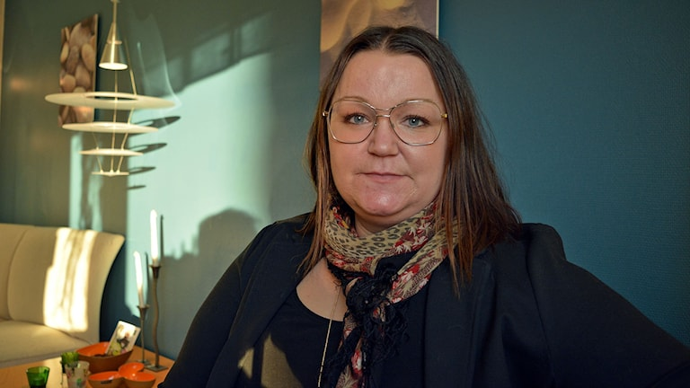Vårdförbundets Gävleborgsordförande  Anna Bergström. Foto: Tomas Groop/ Sveriges Radio