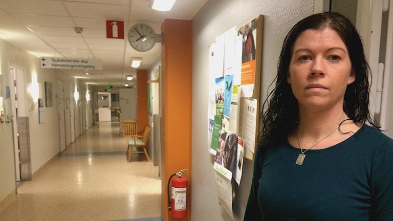 Anna Vetterberg, verksamhetschef på Hematologen på Gävle sjukhus. Foto: Frida Olsson/Sveriges Radio
