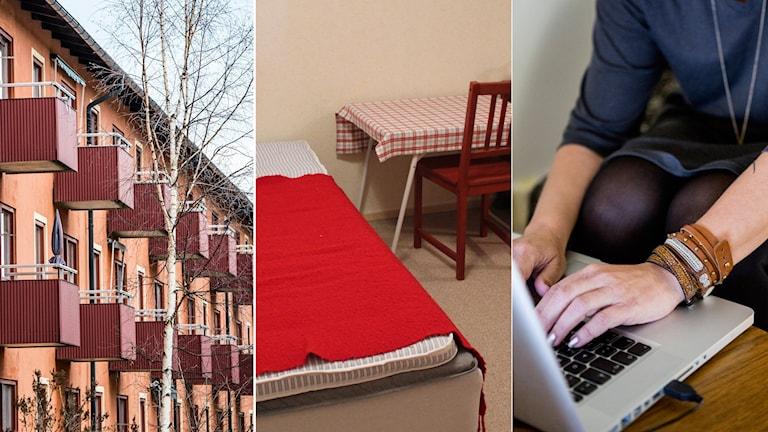 Många privatpersoner hyr ut hela eller delar av sitt hem via sajter. Foto: Lars Pehrsson/SvD/TT, Linnea Johansson/SR, Christine Olsson/TT.
