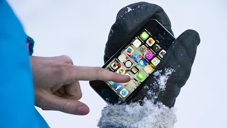 Mobiltelefoner fungerar inte alltid bra i kyla. Foto: Claudio Bresciani/TT
