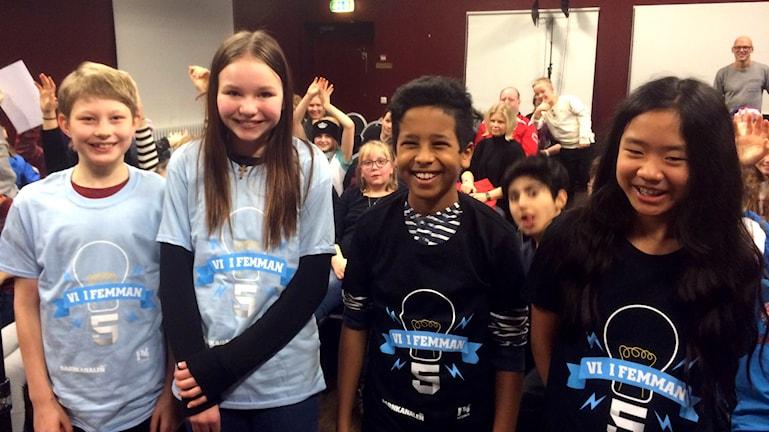 Vallsta skola möter Björkbergsskolan i den tredje kvartsfinalen. Foto: Mikael Sanner/Sveriges Radio